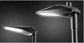 Eclairage public à LED OROLUX de puissance 100W vue de profil